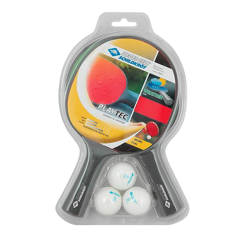 Набор для настольного тенниса (2 ракетки, 3 мяча) Torres Donic Schidkrot