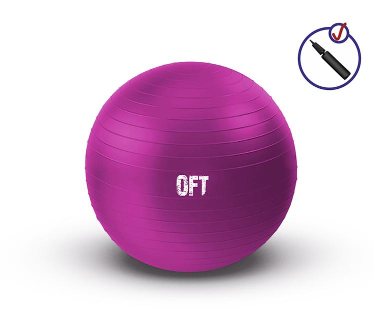 Мяч фитбол гимнастический  с насосом в комплекте OFT 55 см