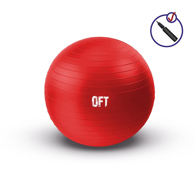 Мяч фитбол гимнастический  с насосом в комплекте OFT 65 см