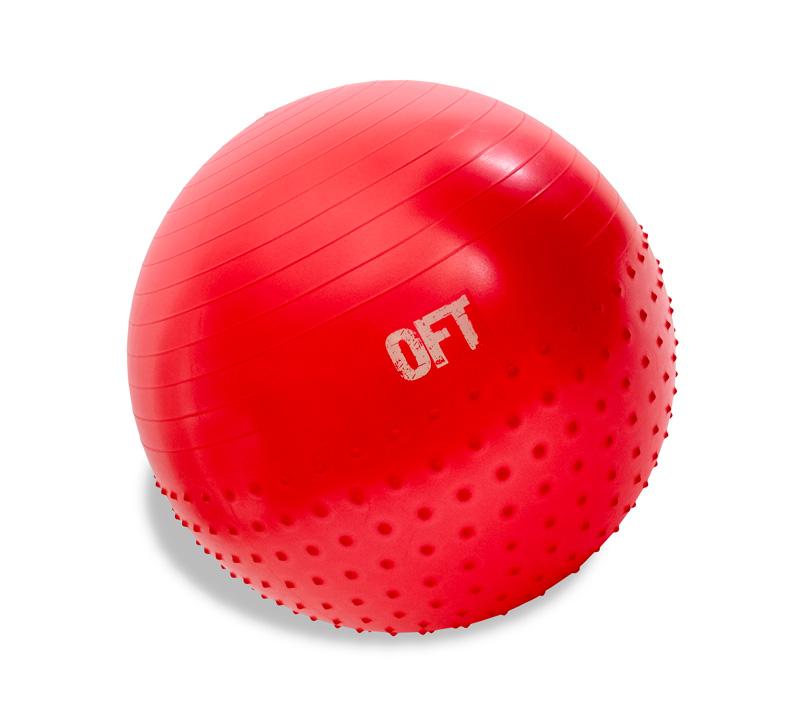 Мяч гимнастический OFT, 65 см, с массажным эффектом