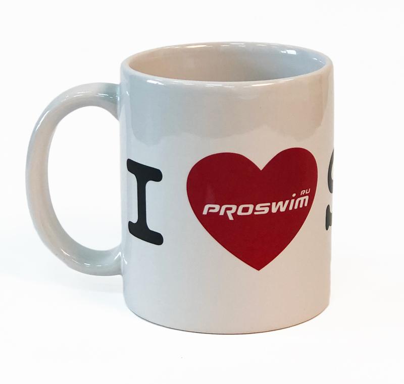 Кружка керамическая Proswim I Love Swim, 480 мл