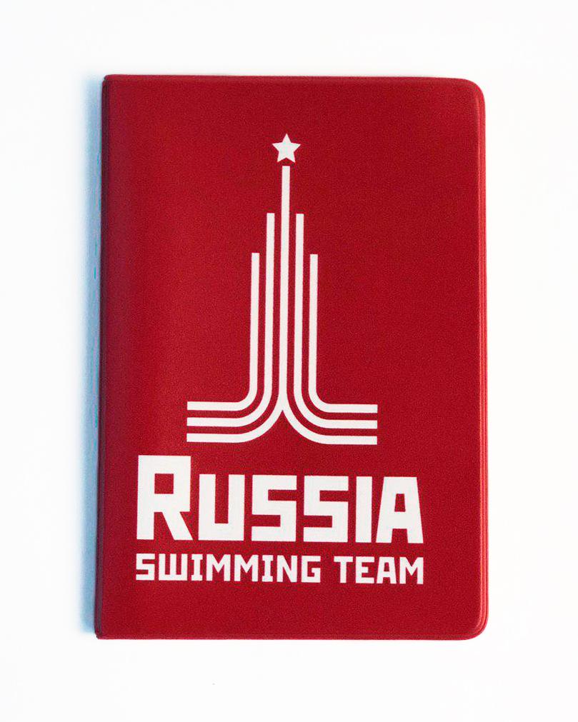 Обложка (чехол) для паспорта Proswim Russia Swimming Team