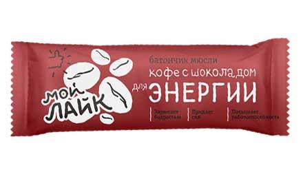 """Батончик мюсли Tekmar Мой Лайк """"Кофе с шоколадом для энергии"""", 25 грамм"""