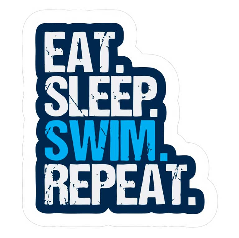 Наклейка Proswim Eat. Sleep. Swim. Repeat.