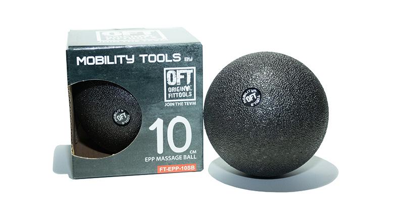 Мяч (шар) массажный одинарный OFT 10 см черный