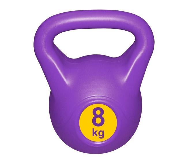 Гиря с пластиковым покрытием Streda Home 8 кг (1 шт) Purple