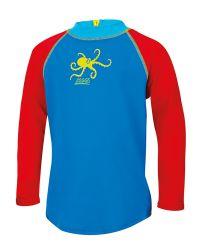 Гидромайка для плавания детская с длинным рукавом ZOGGS Octopus Fever Zip Sun