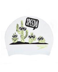 Шапочка для плавания детская Speedo Slogan Cap Junior  (6-12 лет)