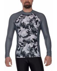Гидромайка для плавания мужская с длинным рукавом iQ UV 300+ Gray