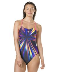 Купальник слитный Speedo StrobeGlow Placement Digital Rippleback