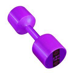 Гантель с пластиковым покрытием Streda Home 12 кг (1 шт) Purple