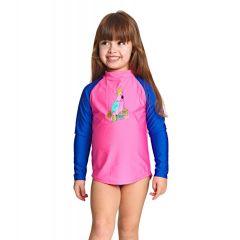 Гидромайка для плавания детская с длинным рукавом ZOGGS Jungle Zip Sun Top