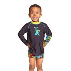 Гидромайка для плавания детская с длинным рукавом ZOGGS Sci Fi Long Sleeve Sun Top