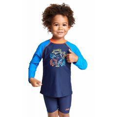 Гидромайка для плавания детская с длинным рукавом ZOGGS Tiger Party Long Sleeve Sun