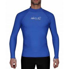 Гидромайка для плавания мужская с длинным рукавами  iQ UV 300+ Blue