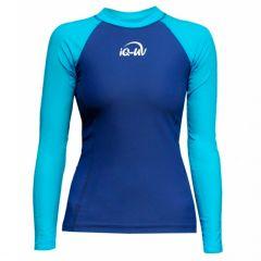 Гидромайка для плавания женская с длинным рукавом iQ UV 300+