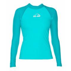 Гидромайка для плавания женская с длинным рукавом iQ UV 300+ SS19