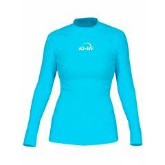 Гидромайка для плавания женская с длинным рукавом iQ UV 300+ Turquoise