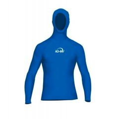 Гидромайка с капюшоном для плавания мужская iQ UV 300+ Blue
