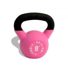 Гиря обрезиненная OFT 8 кг (1 шт) Pink