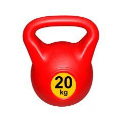 Гиря с пластиковым покрытием Streda Home 20 кг (1 шт) Red