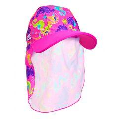 Кепка детская с защитой для шеи ZOGGS Sea Unicorn Sun Hat  (1-6 лет)