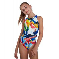 Купальник слитный детский Speedo Digital Placement Pulseback Swimsuit White