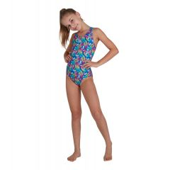 Купальник слитный детский Speedo Disney Minnie Mouse Allover Splashback Swimsuit Blue