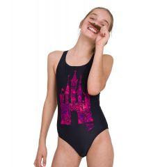 Купальник слитный детский Speedo Disney Princess Placement Medalist Swimsuit Black