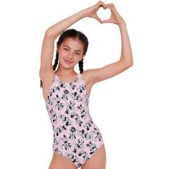 Купальник слитный детский Speedo Medalist Minnie Mouse Disney Junior Pink - D795