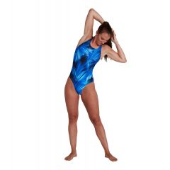 Купальник слитный Speedo Allover Powerback Swimsuit Blue