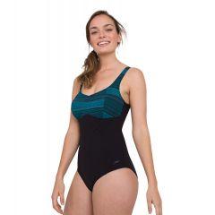 Купальник слитный Speedo ContourLustre Printed Swimsuit Black