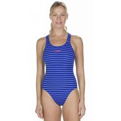 Купальник слитный Speedo Endurance+ Printed Medalist Blue