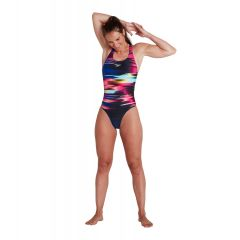 Купальник слитный Speedo Placement Digital Powerback Swimsuit Black