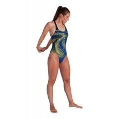 Купальник слитный Speedo Placement Powerback Swimsuit Black