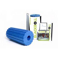 Массажный ролик рифленый (жесткий, 30 см) BLACKROLL Pro Groove Blue