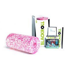 Массажный ролик (стандарт, 30 см) BLACKROLL White/Pink