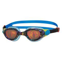 Очки для плавания детские радужные с рисунком ZOGGS Sea Demon Junior (6-14 лет), Blue