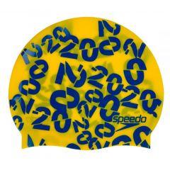 Шапочка для плавания детская Junior Slogan Cap Yellow - D690 (6-12 лет)