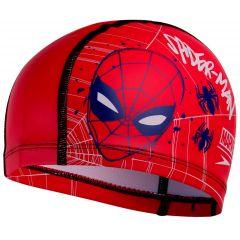Шапочка для плавания детская Speedo Junior Marvel Spider-Man Printed Pace Cap Red (6 - 12 лет)