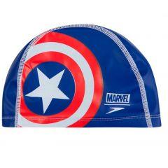 Шапочка для плавания детская Speedo Marvel Captain America Junior Pace Cap (6-12 лет)