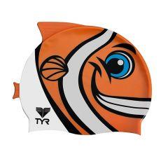 Шапочка для плавания детская TYR Characs Happy Fish Cap (6-12 лет)