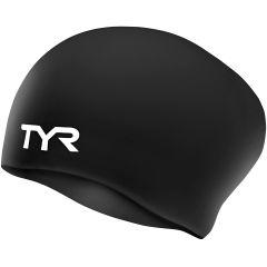 Шапочка для плавания (для длинных волос) TYR Long Hair Wrinkle Free Silicone Cap