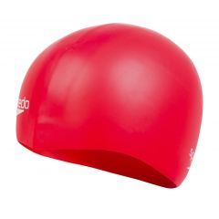 Шапочка для плавания Speedo Plain Moulded Silicone Cap Red