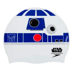 Шапочка для плавания Speedo Slogan Print Cap R2-D2 Star Wars