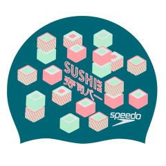 Шапочка для плавания Speedo Slogan Print Cap Sushi Green