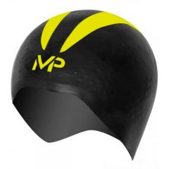 Шапочка для плавания стартовая Michael Phelps X-O, black/yellow