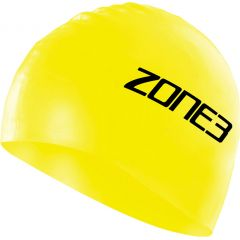Шапочка для плавания ZONE3 Silicone Swim Cap Hi Vis Yellow
