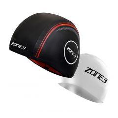 Шапочка неопреновая для плавания в холодной воде ZONE3 Neoprene Strapless Swim Cap (с силиконовой в комплекте) 4 мм