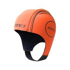 Шапочка неопреновая для плавания в холодной воде ZONE3 Orange Neoprene Hi-Vis Swim Cap 2,5 мм